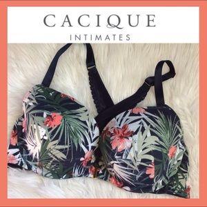 CACIQUE Tropical Plunging Bra